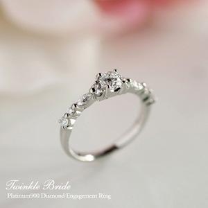 刻印無料のプラチナ婚約指輪