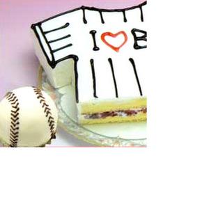 名入れ野球ユニフォーム型ケーキ