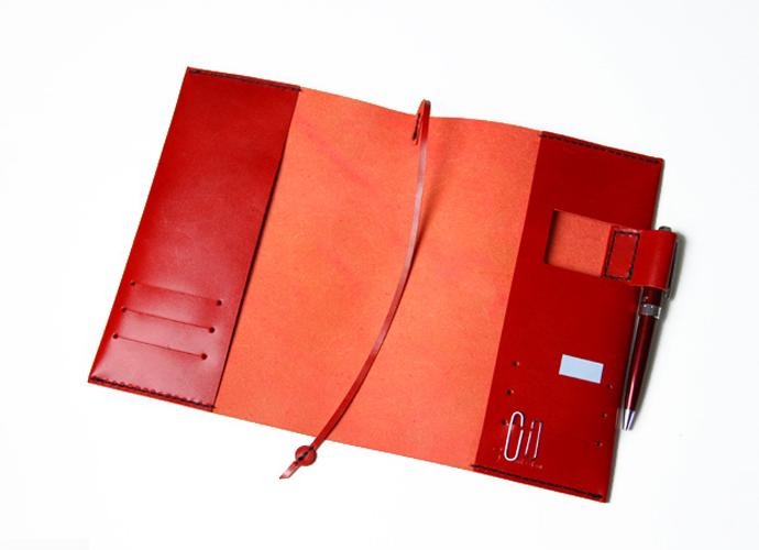 上質な日本製革製ノートカバー